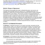 Non-Disclosure Agreement (Nda) Template – Sample in Nda Template Word Document