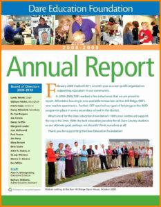 Non Profit Annual Report Template | Wesleykimlerstudio in Non Profit Annual Report Template