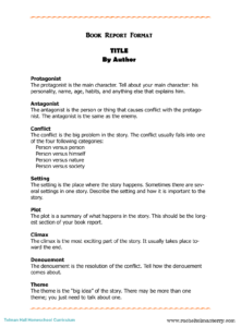 Nonfiction Book Report Template College Level Example Pdf In College Book Report Template
