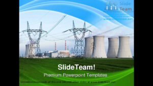 Nuclear Power Station Technology Powerpoint Templates Themes And  Backgrounds Ppt Themes throughout Nuclear Powerpoint Template