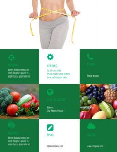 Nutritionist & Dietician Flyer Template throughout Nutrition Brochure Template