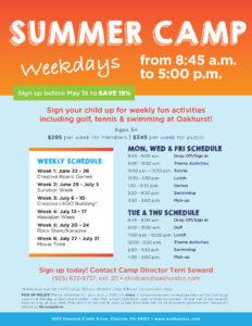 Oakhurst Summer Camp Flyer Template   Kids   Best Summer with Summer Camp Brochure Template Free Download
