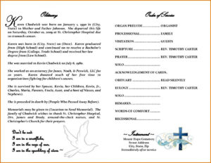 Obituary Template Free | Template Business within Free Obituary Template For Microsoft Word