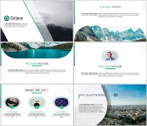 Octave Free Powerpoint Presentation Template – Just Free Slides inside Powerpoint Templates Tourism