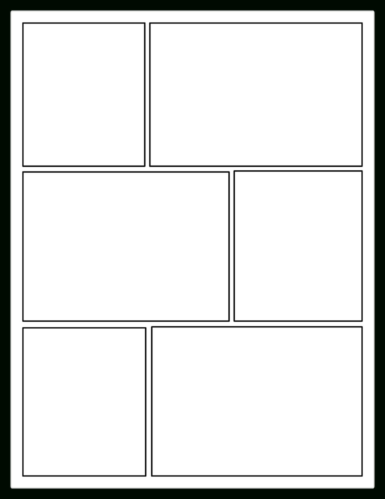 Offering Choices For Your Readers: Comic Book Craze For Printable Blank Comic Strip Template For Kids