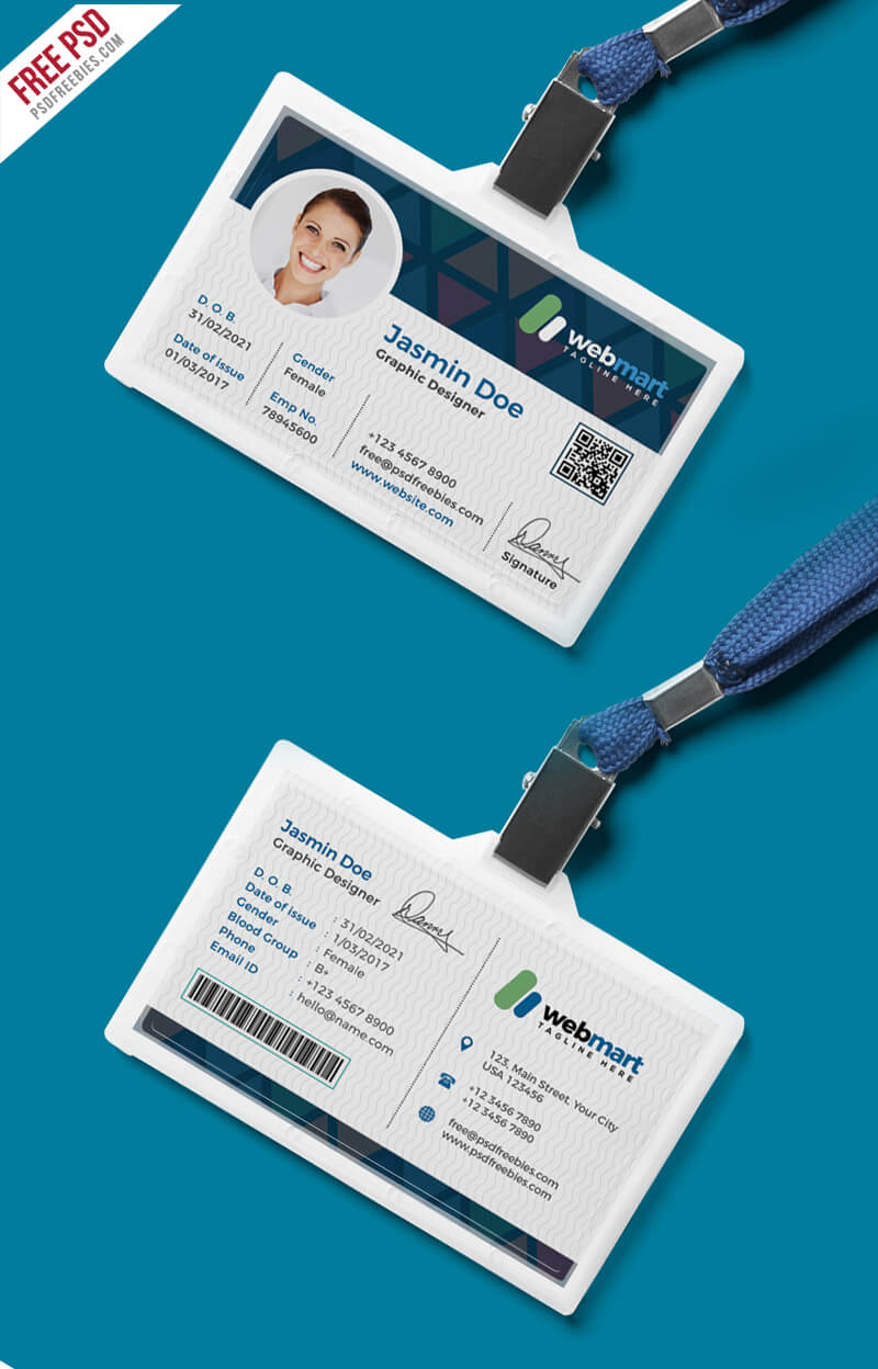 Office Id Card Design Psd | Psdfreebies Throughout Id Card Design Template Psd Free Download