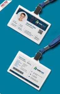 Office Id Card Design Psd | Psdfreebies with Media Id Card Templates