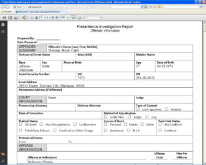 Ohio Nce Investigation Report Example Federal Sample throughout Presentence Investigation Report Template