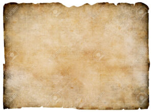 Old Blank Parchment Treasure Map Isolated. Clipping Path Is Included. for Blank Pirate Map Template
