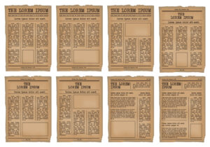 Old Newspaper Template Vector Set – Download Free Vectors intended for Old Newspaper Template Word Free