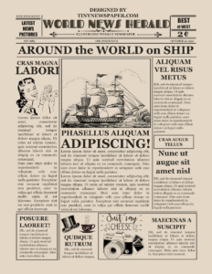 Old Newspaper Template Word for Old Blank Newspaper Template