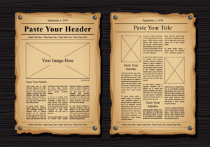 Old Newspaper Vector Templates – Download Free Vectors intended for Blank Old Newspaper Template