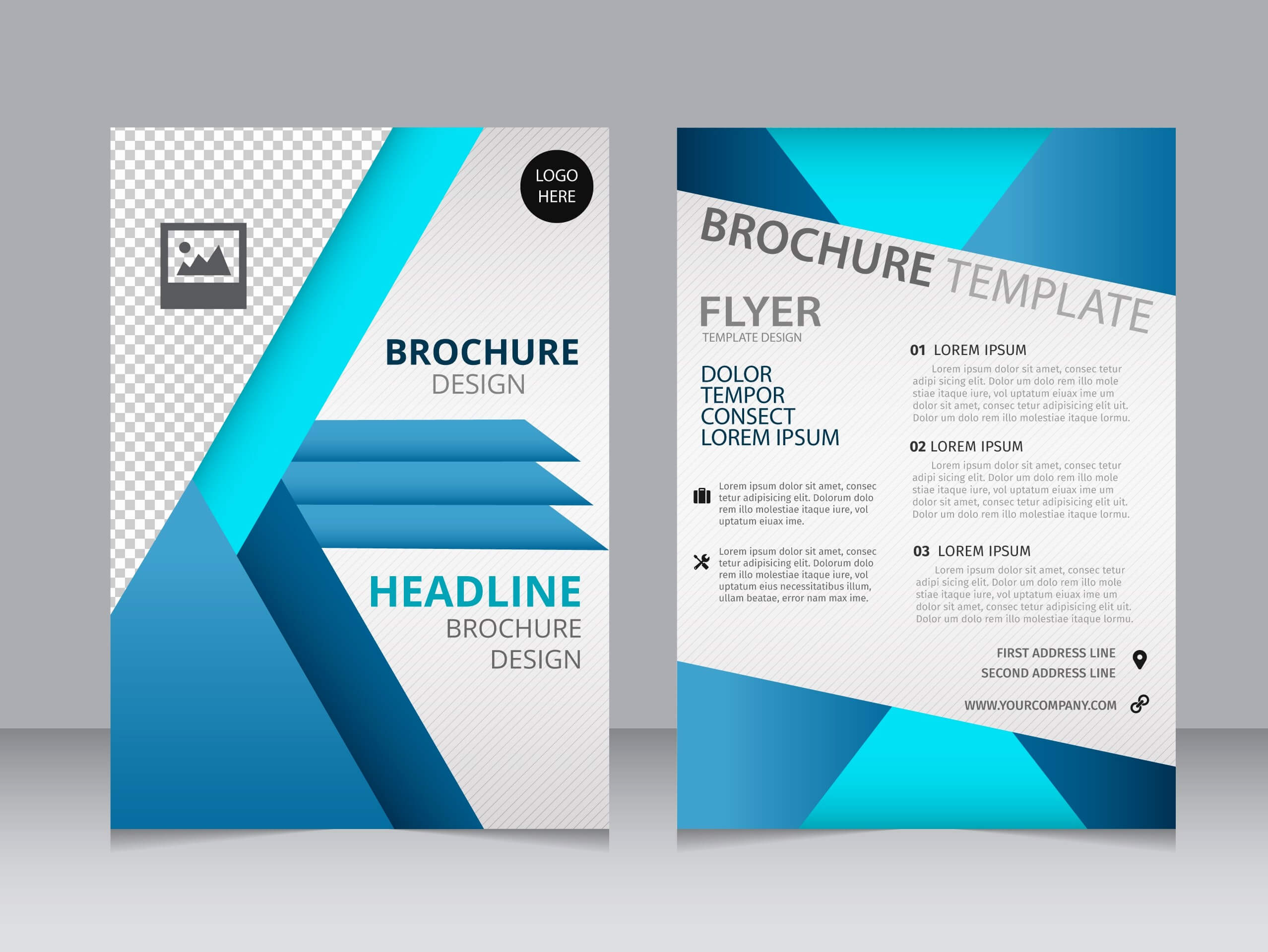 One Page Brochure Template Free Professional Download Simple Intended For One Page Brochure Template
