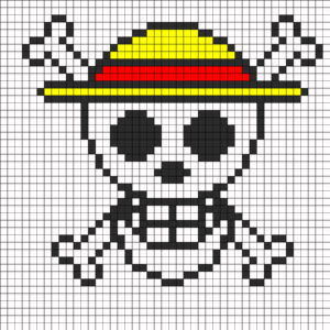 One Piece Logo Perler Bead Pattern | Bead Sprites | Misc within Blank Perler Bead Template