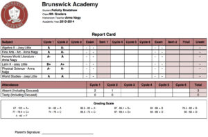 Online High School Report Card Template – Cards Design Templates in High School Report Card Template