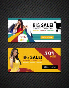 Online Shopping Banners Templates | Free Website Psd Banners intended for Free Online Banner Templates