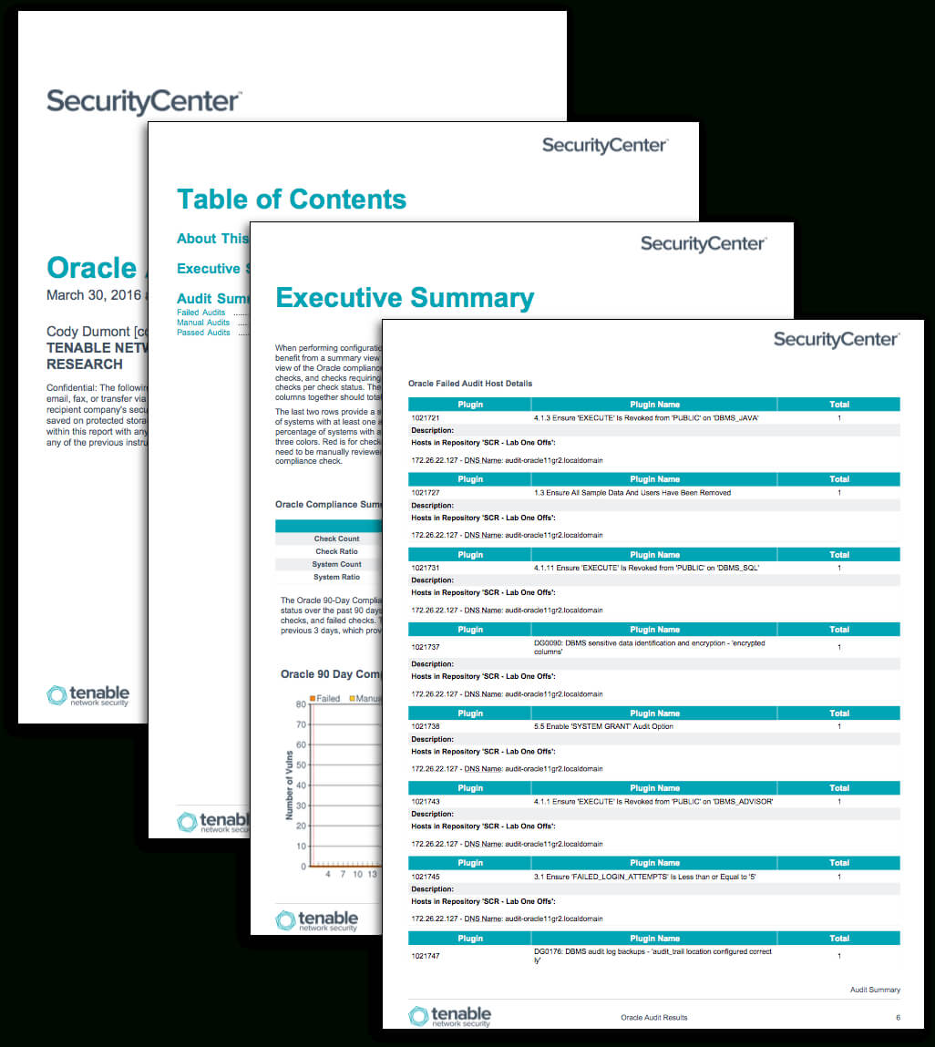 Oracle Audit Results - Sc Report Template | Tenable® With Regard To Security Audit Report Template