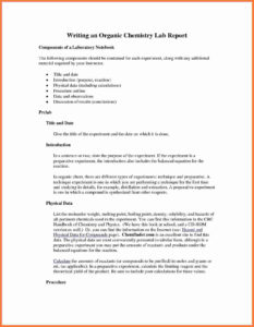 Organic-Chemistry-Lab-Report-Example-Also-Ibmistry-Lab throughout Chemistry Lab Report Template