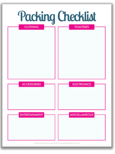 Organized Travel: A Free Printable Packing List For Your inside Blank Packing List Template