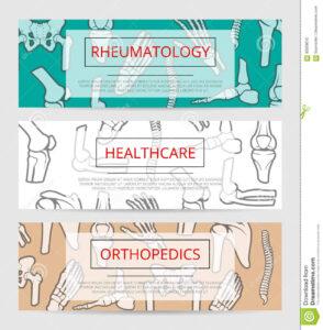 Orthopedics, Rheumatology Medical Banner Template Stock throughout Medical Banner Template