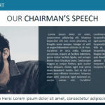 Our Chairman Message Powerpoint Template – Slidemodel For Chairman's Annual Report Template