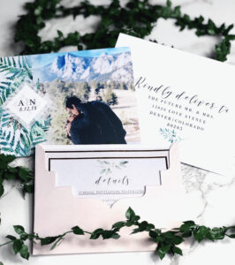 Our Save The Dates! Photo From Vistaprint, Envelope regarding Michaels Place Card Template
