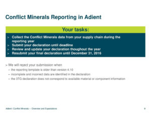 Overview And Expectations – Ppt Download for Eicc Conflict Minerals Reporting Template