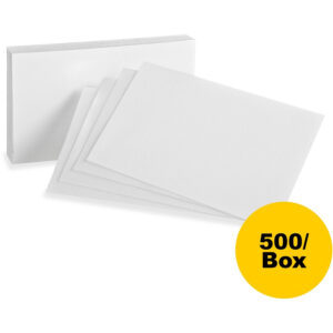 "Oxford Printable Index Card – 5"" X 8"" – 85 Lb Basis Weight – 500 / Box –  White intended for 5 By 8 Index Card Template"