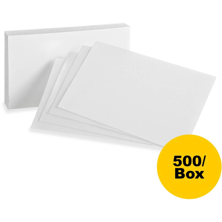 """Oxford Printable Index Card – 5"""" X 8"""" – 85 Lb Basis Weight – 500 / Box –  White Intended For 5 By 8 Index Card Template"""