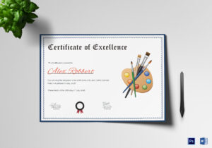 Painting Award Certificate Template in Player Of The Day Certificate Template