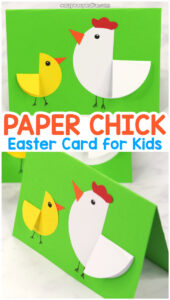 Paper Circle Hen And Chick Craft – Easter Card Idea – Easy intended for Easter Chick Card Template