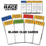 """Paper Perfection: Free """"amazing Race"""" Birthday Party Inside Clue Card Template"""