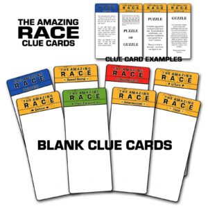 "Paper Perfection: Free ""amazing Race"" Birthday Party inside Clue Card Template"