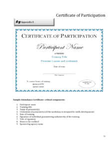Participation Certificate – 6 Free Templates In Pdf, Word With Certificate Of Participation Template Pdf