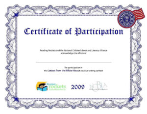 Participation Certificate Template Word within Sample Certificate Of Participation Template