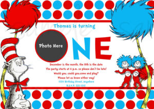 Party Invitations Cards. Dr Seuss Party Invitations: New Dr With Dr Seuss Birthday Card Template