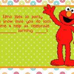 Party Invitations Cards: Elmo Birthday Party Invitations With Elmo Birthday Card Template