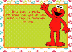 Party Invitations Cards: Elmo Birthday Party Invitations with Elmo Birthday Card Template