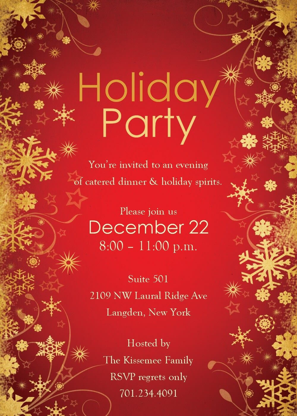 Party Invitations: Christmas Party Invitation Template Inside Free Christmas Invitation Templates For Word