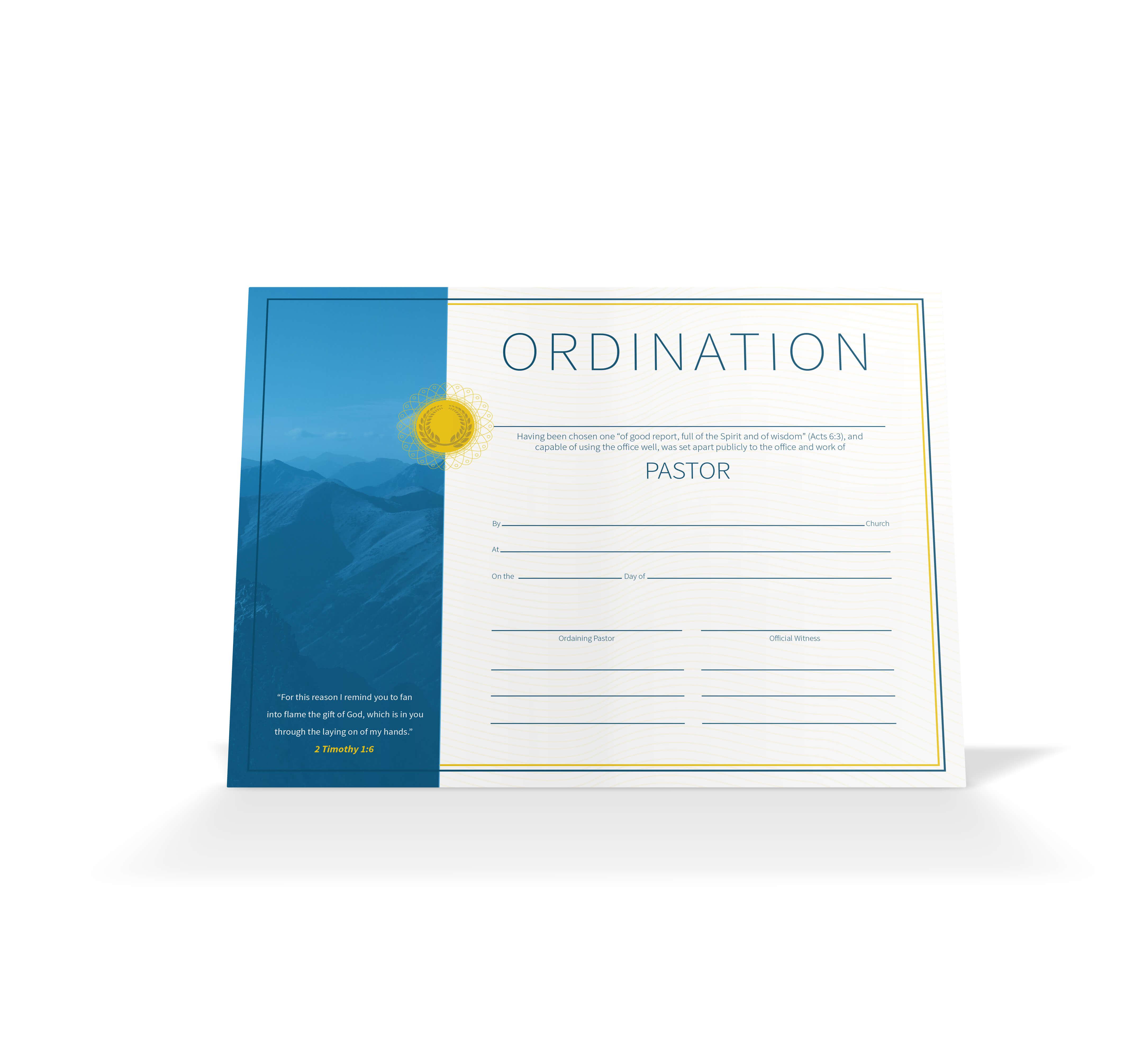 Pastor Ordination Certificate – Vineyard Digital Membership Within Certificate Of Ordination Template
