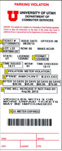 Pay A Ticket – Commuter Services – The University Of Utah regarding Blank Speeding Ticket Template