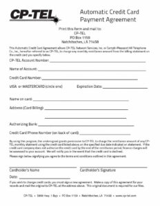 Payment Agreement – 40 Templates & Contracts ᐅ Template Lab pertaining to Credit Card Payment Plan Template