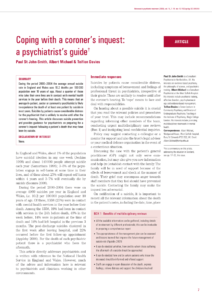 Pdf) Coping With A Coroner's Inquest: A Psychiatrist's Guide in Coroner's Report Template