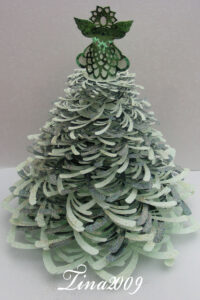 Pdf Format 3D Christmas Tree Template – £5.99 in 3D Christmas Tree Card Template