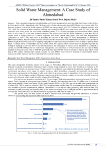 Pdf) Solid Waste Management: A Case Study Of Ahmedabad with Waste Management Report Template