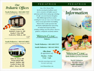 Pediatric Dentistry 11X8 Brochures English Our Work Brochure inside Medical Office Brochure Templates
