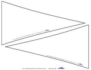 Pennant Banner Template – Wovensheet.co throughout Free Printable Pennant Banner Template
