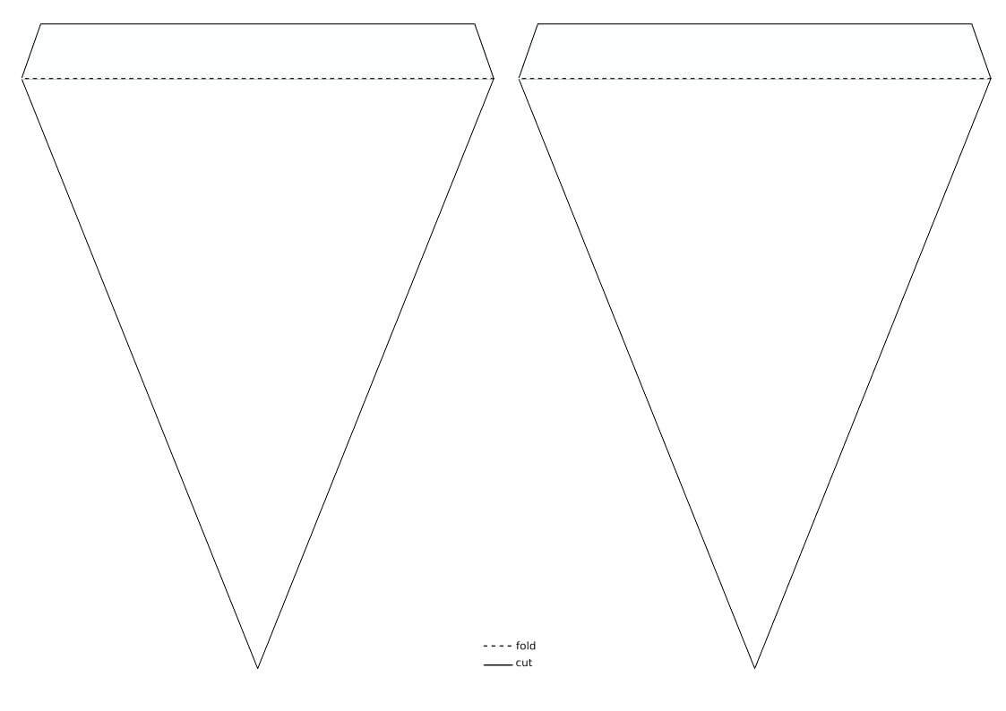 Pennant Banner Template – Wovensheet.co Throughout Triangle Banner Template Free