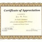Perfect Attendance Award Certificate Template … | Education with Perfect Attendance Certificate Template
