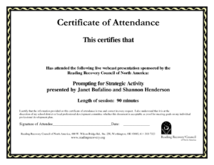 Perfect Attendance Certificate Template Word with Certificate Of Attendance Conference Template